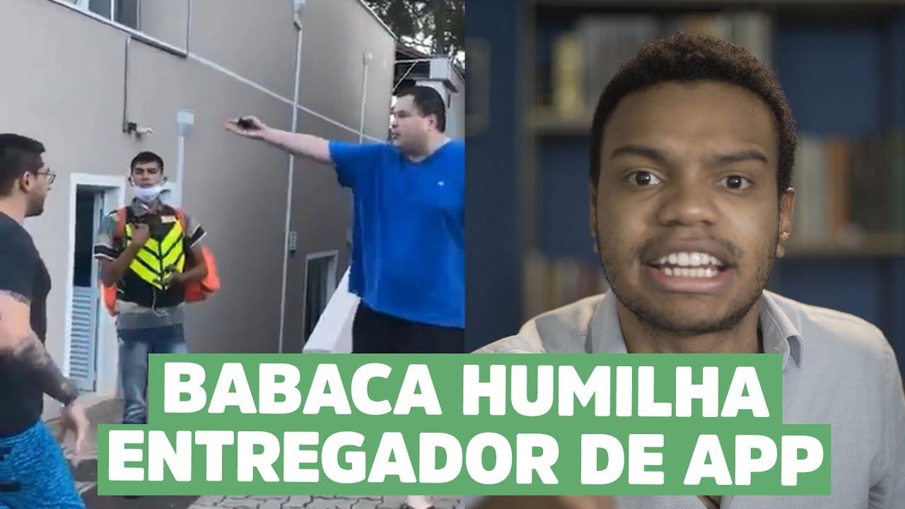 RACISTA HUMILHA ENTREGADOR DE APP
