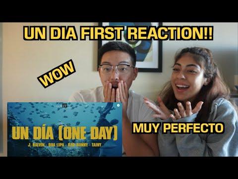 J. Balvin, Dua Lipa, Bad Bunny, Tainy - UN DIA (ONE DAY) - FIRST REACTION!!