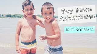 Beach Day! | DAY IN THE LIFE OF SAHM OF TWO BOYS