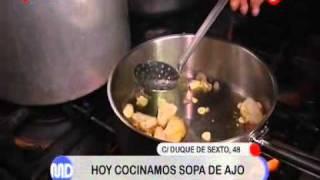 Receta de la sopa de ajo