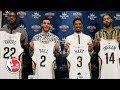 Lonzo Ball, Brandon Ingram, Josh Hart and Derrick Favors introduced by the Pelicans | NBA on ESPN
