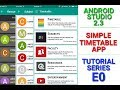 Simple Timetable App Tutorial - E00 (How does the app look like?)