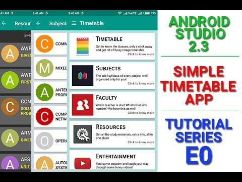 Simple Timetable App Tutorial - E00 (How does the app look like