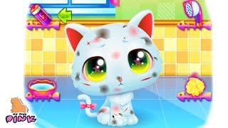 БРОШЕННЫЙ КОТЕНОК! Fun Pet Care Play with Little Kitten - Игра Мультик для Девочек с Май Тойс Пинк