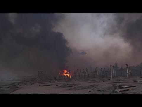 Oltre 30 incendi a Catania, le fiamme divorano la spiaggia: distrutto stabilimento balneare