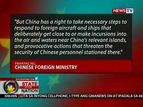China, iginiit na may karapatan sila na sitahin ang anumang sasakyang lalapit sa kanilang mga isla