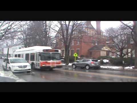 CATA Bus on N Allegheny St, Bellefonte, PA 12-21-13