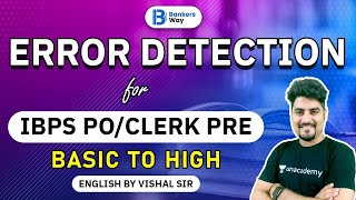 3:00 PM - IBPS PO/Clerk Pre | English by Vishal Parihar | Error Detection | Basic to High