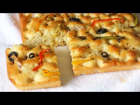 Focaccia Bread Recipe | Easy Italian Bread Recipe | How To Make Focaccia Bread | Kanak's Kitchen