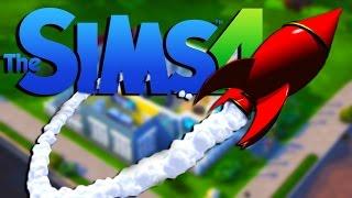 ROCKET LAUNCH   The Sims 4 - Part 10