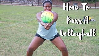 How To Pass A Volleyball For Beginners ! - Tutorial