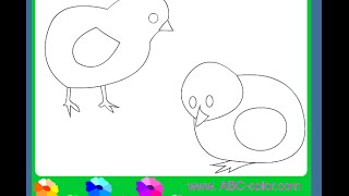 Chicks Coloring Pages For Kids - Chicks Coloring Pages