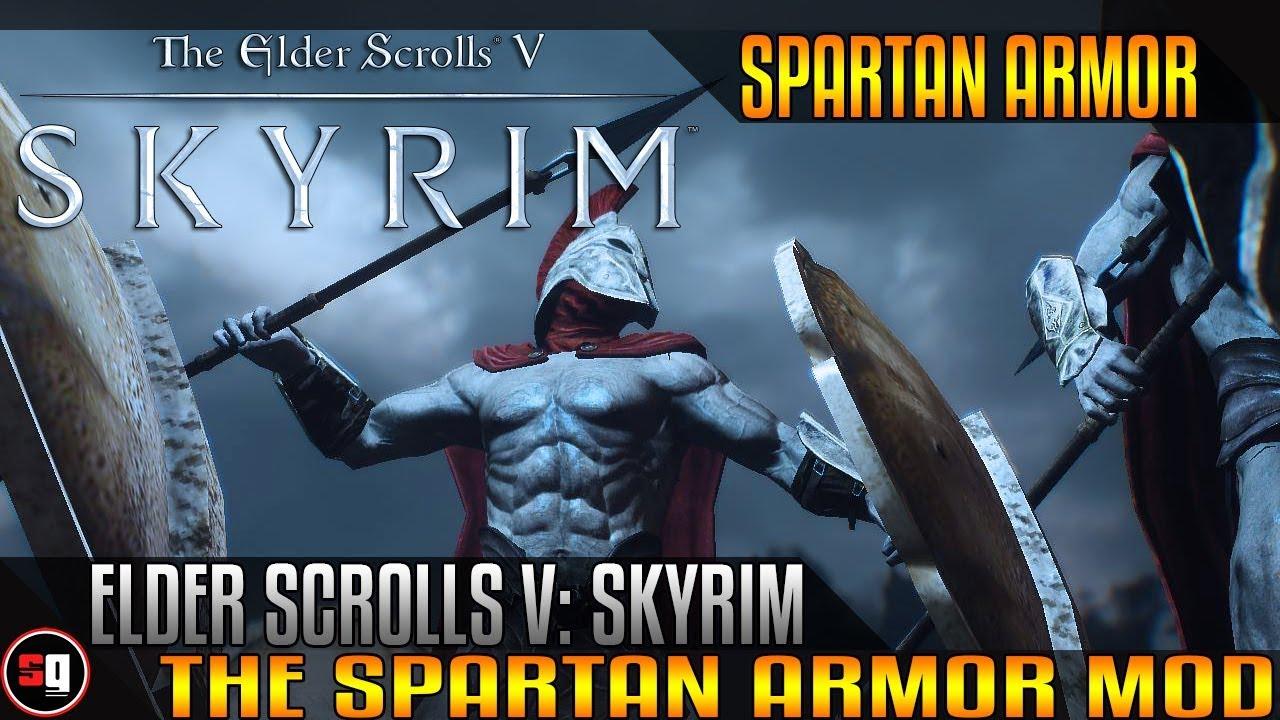 the elder scrolls v skyrim spartan armor mod youtube