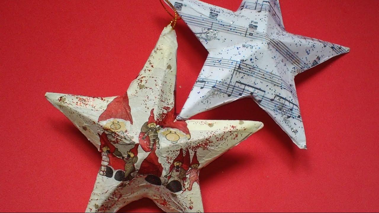 Estrella de Navidad con Material Reciclado  Reciclada