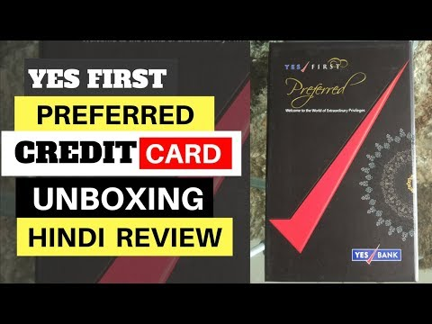 Unboxing Yes Bank First Preferred Credit Card- Nice packing | Hindi | BintooShoots