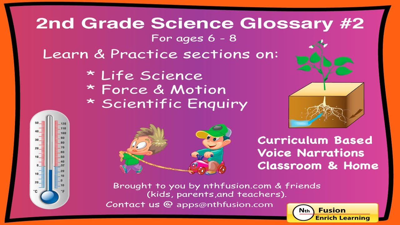 2nd Grade Science Glossary #2: Learn and Practice Worksheets for home use  and in school classrooms - YouTube [ 720 x 1280 Pixel ]