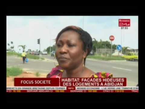 Business 24 / Focus société - Habitat :  Façades hideuses des logements à Abidjan