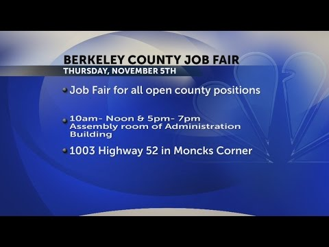 Berkeley County Government to Host Job Fair
