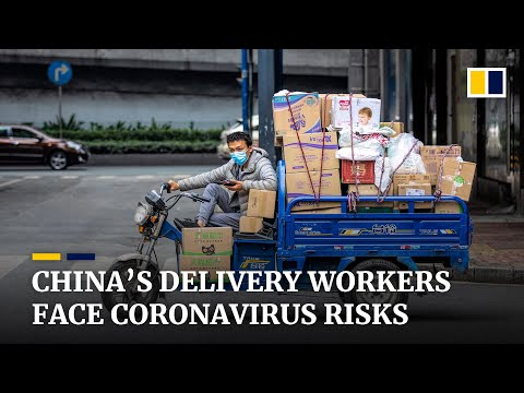 China's Delivery Workers Risk Infection As Online Sales Surge Amid Coronavirus Outbreak