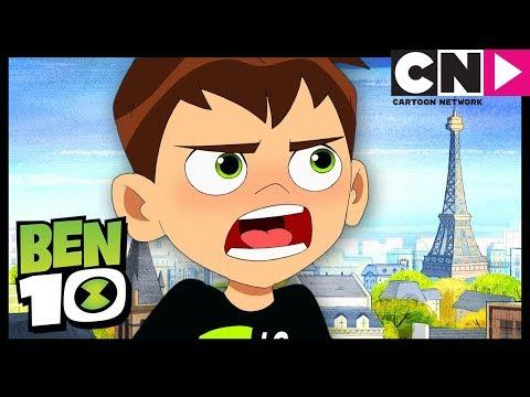 Ben 10 | Ben Gets Lost in Paris | Speechless on the Seine | Cartoon Network thumbnail