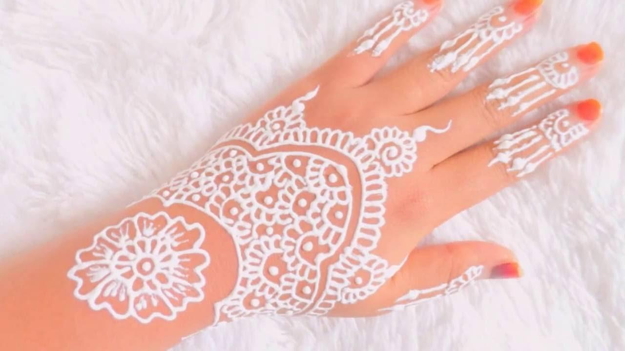 Simple White Henna Belajar Henna Untuk Pemula 4 Youtube
