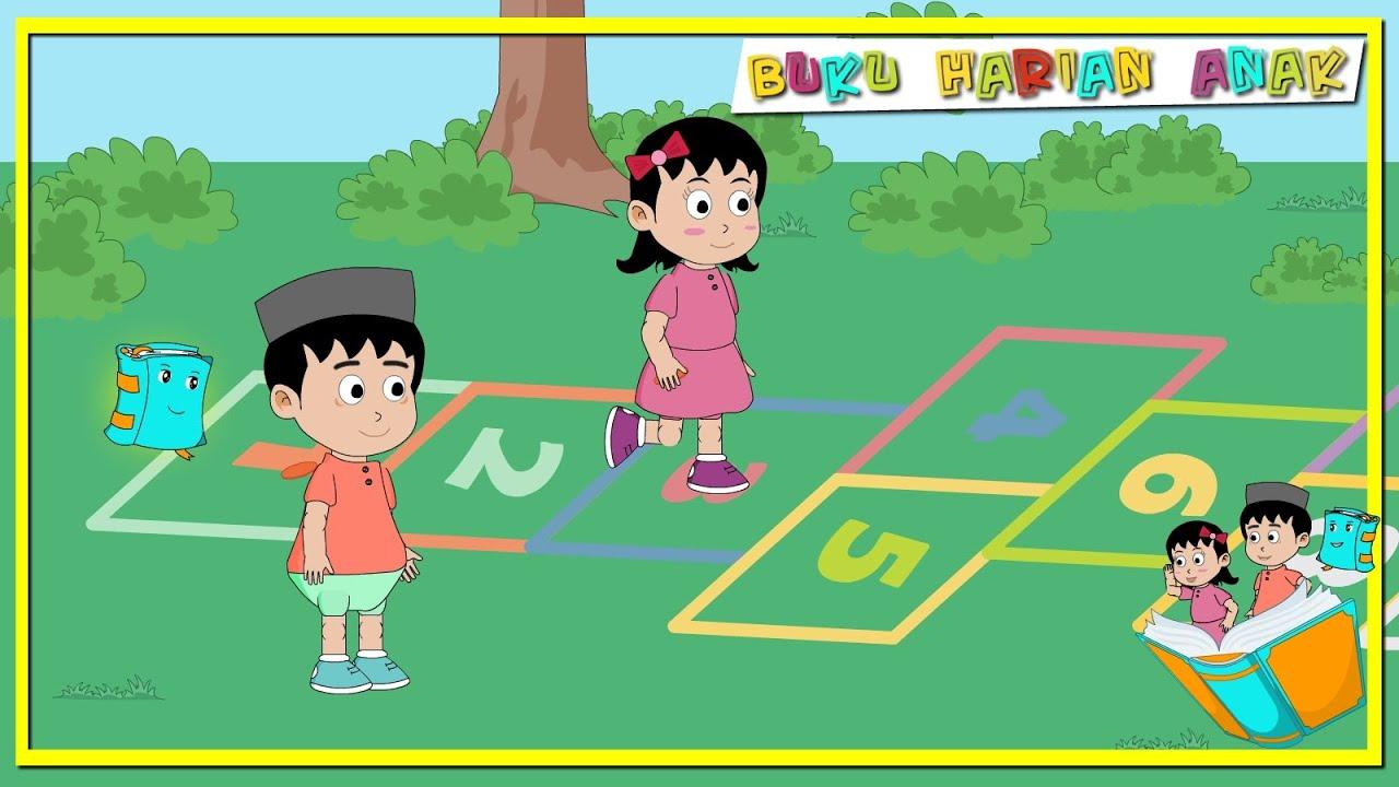 Bermain Engklek Permainan Tradisional Buku Jendela Dunia Buku Harian Anak Clarabintang Youtube