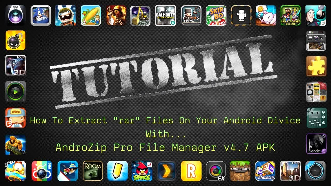 How To Extract rar Files And Install apk + Obb Files On a Android Device