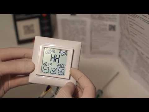 Сенсорный программируемый терморегулятор SPYHEAT SDF-421H: обзор и видео-инструкция по настройке.