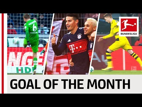 Top 10 Best Goals February - Vote for the Goal of the Month