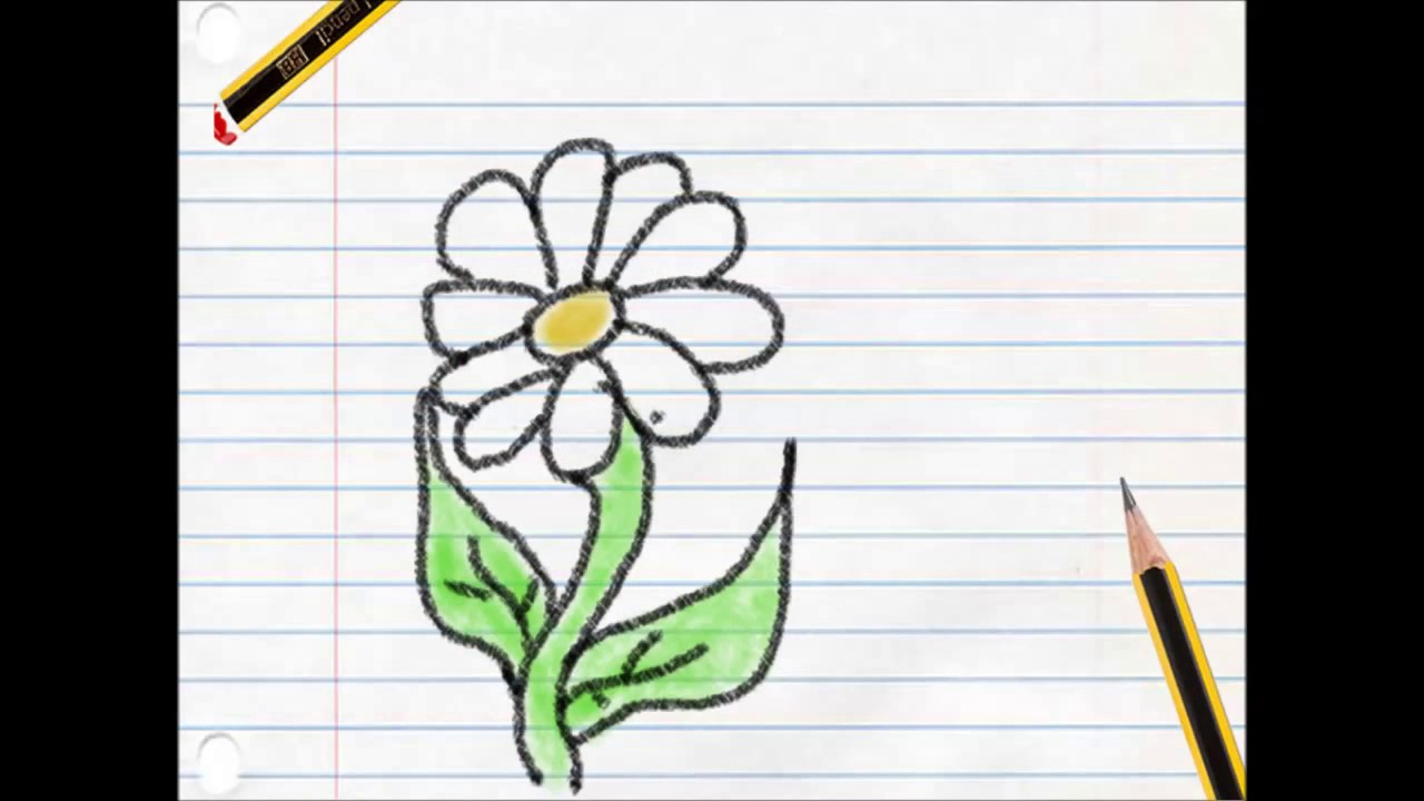 Very Easy! How To Draw A Flower Step By Step For Kids