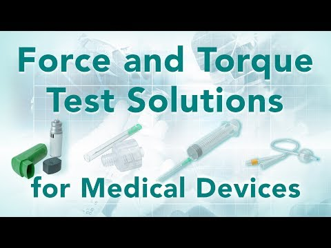 Medical Devices Quality Control Testing  - Mecmesin Force & Torque Measurement