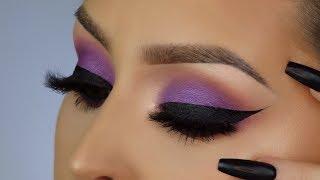 Purple eyeshadow tutorial l Winged eyeliner l February BOXYCHARM