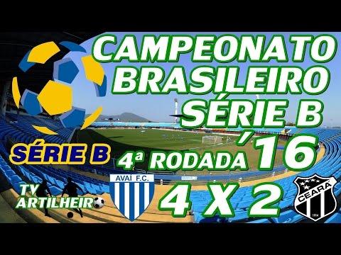 [Série B '16] 4ª Rodada - Avaí FC 4 X 2 Ceará SC - Melhores Momentos - TV ARTILHEIRO