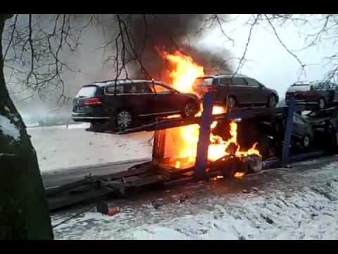 Brand New Cars On Fire Poland