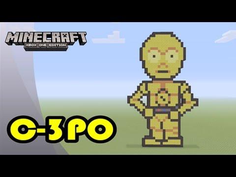 Minecraft: Pixel Art Tutorial and Showcase: C-3PO (Star Wars)