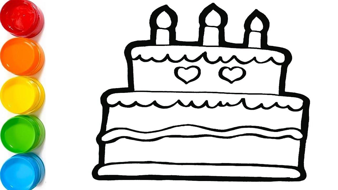 Dạy bé vẽ bánh sinh nhật – How to draw a Birthday Cake for Kids