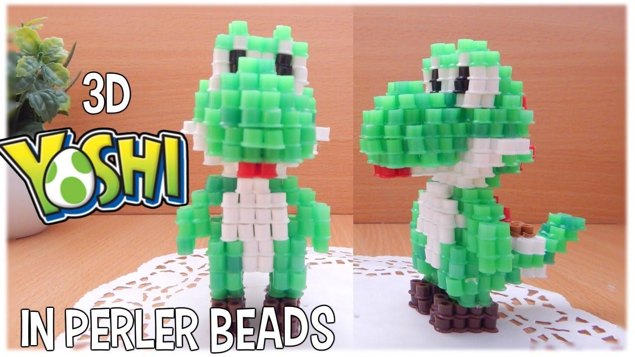 3d Perler Beads Tutorial Yoshi Nintendo Youtube