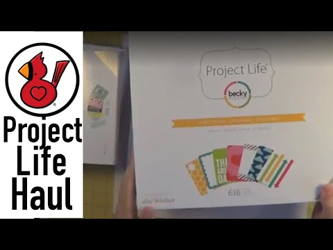 Video #120 Project Life haul & quick page update