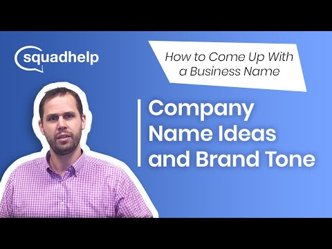 Company Name Ideas And Brand Tone