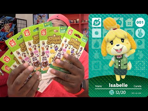 AMIIBO CARDS BLIND UNPACKING #1: Animal Crossing: Happy Home Designer (Series 1)