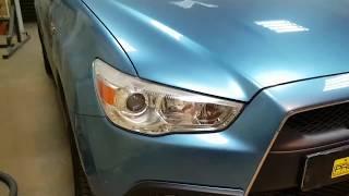Mitsubishi ASX,  замена линз на биксеноновые Hella 3R Ultimate, скрытая установка ксенона.