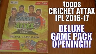 DELUXE GAME PACK OPENING! | Topps CRICKET ATTAX IPL 2016-17 Trading Cards | DHAWAN LIMITED EDITION
