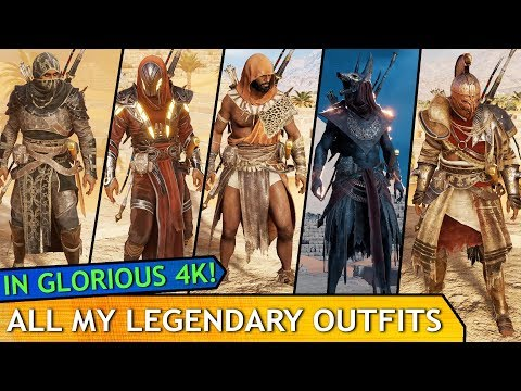 Assassin's Creed: Origins - All My Legendary Outfits (so far) 4k Showcase