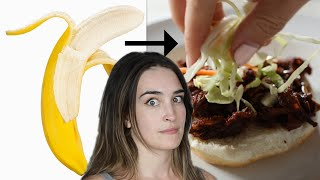 I Try Making The Vegan Banana Peel Pulled Pork Sandwich