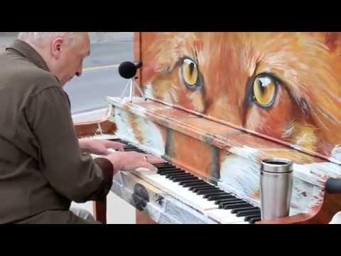 "Michael McNamara plays my Street Piano ""Foxgang Amadeus"": Say Something"