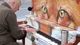 "Michael McNamara plays my Street Piano ""Foxgang Amadeus"": Say Something"