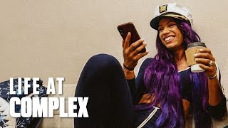 SASHA BANKS & THE WWE INVADE THE COMPLEX OFFICE!   #LIFEATCOMPLEX