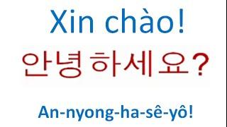 Học tiếng Hàn #9 Xin chào!