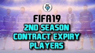 FIFA 19: 2ND SEASON CONTRACT EXPIRY PLAYERS