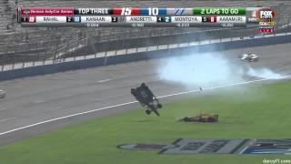 IndyCar Fontana 2015 | Last Lap Finish | Briscoe Big Crash